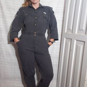 Vintage 80's Black Jumpsuit Overall One Piece